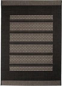 Covor Modern & Geometric Zamora, Negru/Gri, 120x170 cm