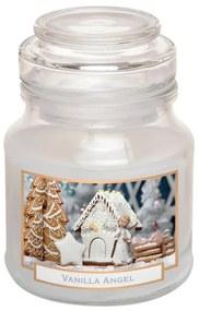 Lumânare în sticlă cu capac ÎNGER DE VANILIE 130 g