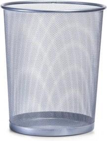 Cos de gunoi din metal pentru birou, Office Gri, Ø29,5xH35 cm