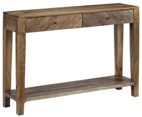 244969 vidaXL Masă consolă din lemn masiv de mango, 118 x 30 x 80 cm