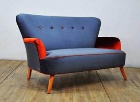 Sofa Velvet Gri (2 Locuri)