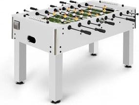 Klarfit Anfield, fotbal de masă, dimensiunile turneului, tije întregi de metal, rulment cu bile, alb