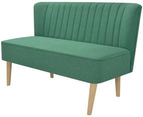 244073 vidaXL Canapea cu material textil, 117 x 55,5 x 77 cm, verde