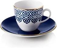 Set pentru servit cafea turcească 4 căni cu farfurioară, culoare albastră