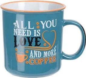 Cana Coffee din ceramica turcoaz 12 cm