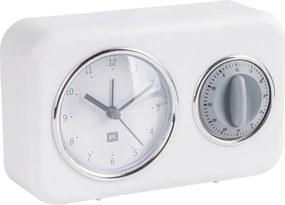 Ceas cu timer de bucătărie PT LIVING Nostalgia, alb