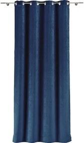 Draperie cu inele Velar albastru 300x245 cm