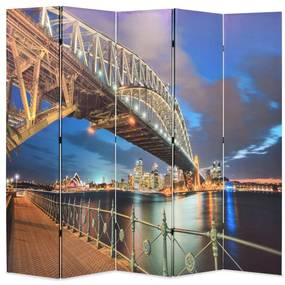 245867 vidaXL Paravan de cameră pliabil, 200 x 170 cm, Sydney Harbour Bridge