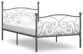 284461 vidaXL Cadru de pat, gri, 90 x 200 cm, metal