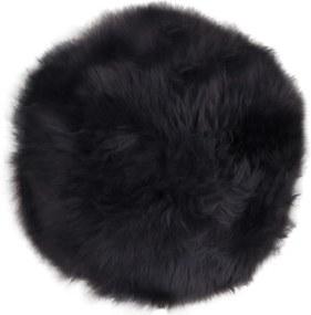 Blană de oaie House Nordic Circle, 35 cm, negru