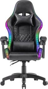 Scaun de gaming cu LED, design Racing, functie recliner, telecomanda