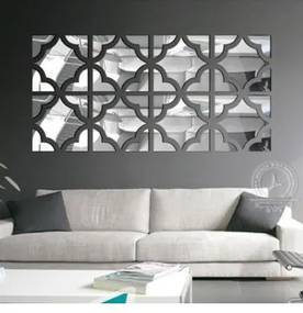 Creative 3D Mirror 25x25 (4buc) Silver