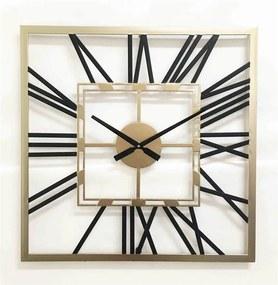 Ceas de perete patrat din metal 60x60x4,5 cm