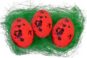 Set 30 oua rosii pestrite polistiren 1.5 cm