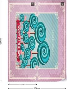Fototapet GLIX - Cupcakes Retro 2 + adeziv GRATUIT Papírová tapeta  - 184x254 cm