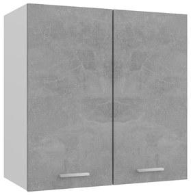 801272 vidaXL Dulap suspendat, gri beton, 60 x 31 x 60 cm, PAL