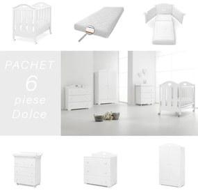 Pachet 6 piese Pat Saltea Set Textil Comoda Cabinet Dulap Dolce