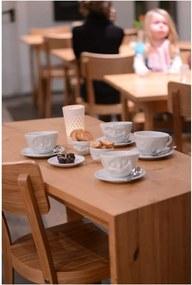 Ceașcă din porțelan pentru cafea 58products Smile, 200 ml, alb