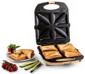 Klarstein Trinity 3 in 1 Sandwich Maker XXL 1300 W crem