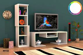 Comoda Tv cu Raft - Bacio - Alb