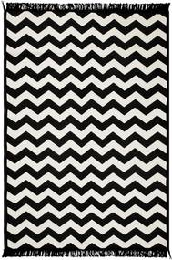 Covor reversibil Zig Zag, 120 x 180 cm, alb-negru
