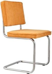 Set 2 scaune Zuiver Ridge Rib, galben