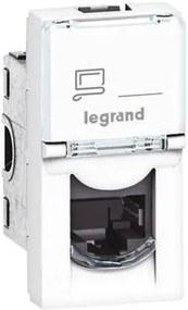 Legrand 76551 - Priza MOSAIC 1xRJ45 class 5E UTP 1M alb