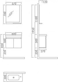 Set mobilier Baie cu Lavoar  - Fiesta 60 Stejar