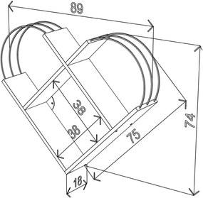 Raft de Perete - Case Alb/Crom