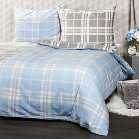Lenjerie de pat din flanelă 4Home, Cub albastru, 140 x 200 cm, 70 x 90 cm