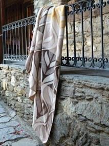 Pătură călduroasă de bumbac cu model maro 150 x 200 cm Lăţime: 150 cm | Lungime: 200 cm