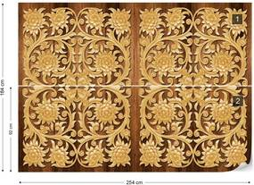 Fototapet GLIX - 3D Vintage Pattern Wood + adeziv GRATUIT Tapet nețesute - 254x184 cm