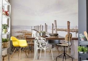 Fototapet GLIX - Lake Pier 4 + adeziv GRATUIT Tapet nețesute - 254x184 cm