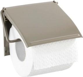 Suport de perete pentru hârtie toaletă Wenko Cover, maro - bej
