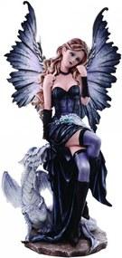 Statueta zana cu dragon Adriana 56.5 cm