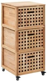 247601 vidaXL Dulap de baie, 41 x 41 x 91 cm, lemn masiv de nuc
