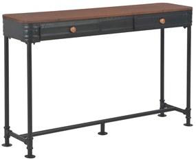 247619 vidaXL Masă consolă cu 2 sertare, 120 x 30 x 75 cm, lemn masiv de brad