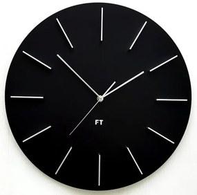 Ceas de perete design Future Time FT2010BK Round  black, diametru 40 cm