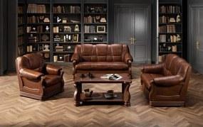 Canapea cu piele 2 locuri Parma – L 145 x l96 x h95 cm