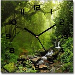 Ceas de sticlă pe perete pătrat Jungle în Nepal