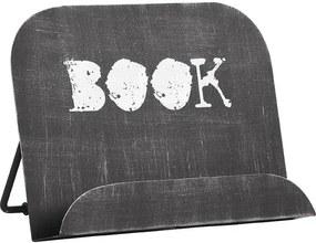 Suport metalic pentru cărți LABEL51, negru