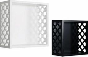 Set de 2 etajere Missouri 10,5cm/12cm x 23,5cm/27cm x 23,5cm/27cm negru/alb