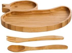 Set luat masa din bambus pentru copii Bambum Ducky
