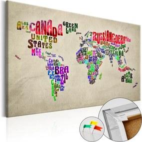 Tablou din plută - Global Tournée (EN) 90x60 cm