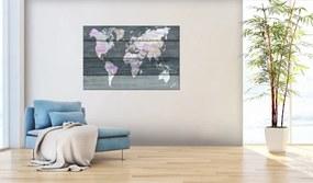 Bimago Tablou din plută - Journey through the World 120x80 cm