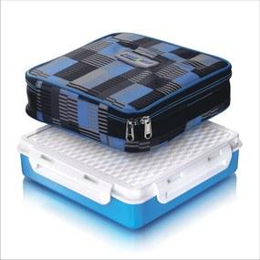 Cutie alimente Lunch Box 4 compartimente, Penta Go, Albastru