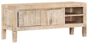 247973 vidaXL Comodă TV, 118 x 35 x 46 cm, lemn masiv de mango