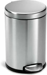 Simplehuman Coș de gunoi cu pedală, rotund 4,5 l, inox