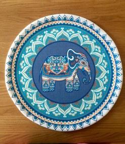 Napron American Service Elefant Ethnic Albastru