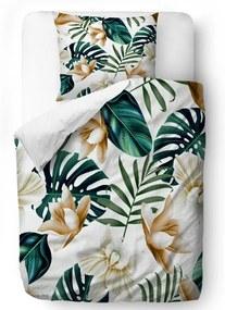 Lenjerie de pat din bumbac satinat Butter Kings Golden Blossom, 135 x 200 cm